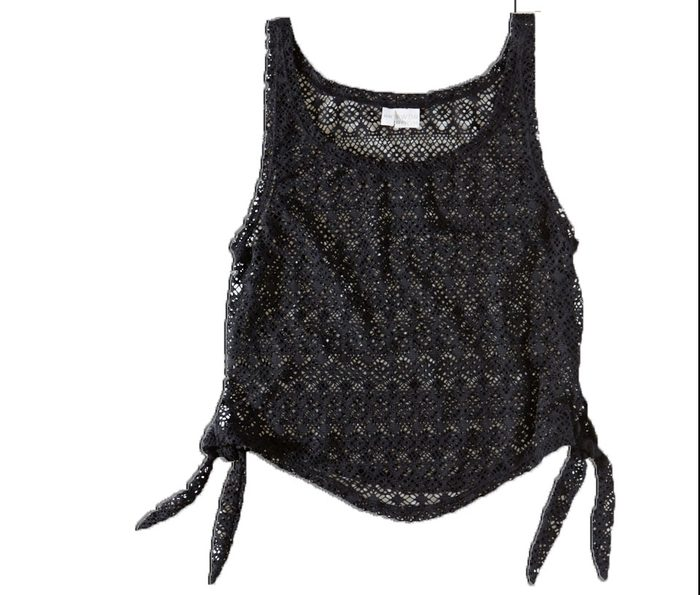 Nylon/spandex crochet tank