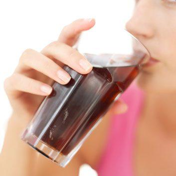 drinking pop juice soda
