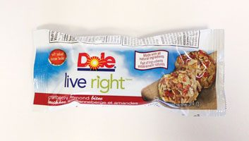 Dole Live Right Bites in Cranberry Almond