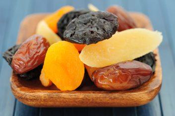 Sticky dried fruit