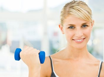weight lifting dumbell