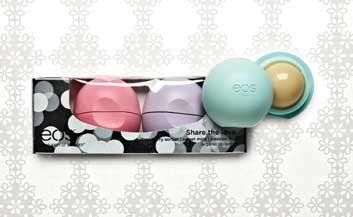 EOS Holiday lip balm collection