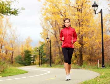 exercise weight loss running fall