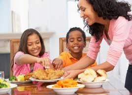 healthy family dinner