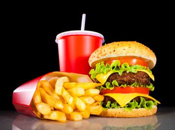McDonalds fast food hambuger