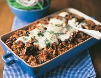 Greek-Style Baked Lamb and Eggplant