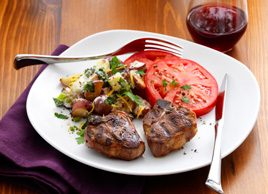 Grilled Lamb with Warm Mint-Yogurt Potato Salad