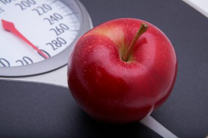 bmi calculator - scale and apple
