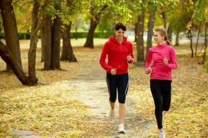 women running autumn fall