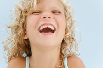 kid laughing