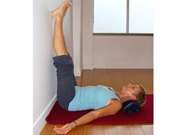Yoga pose of the month: Beat stress and tension with Legs up the Wall Pose