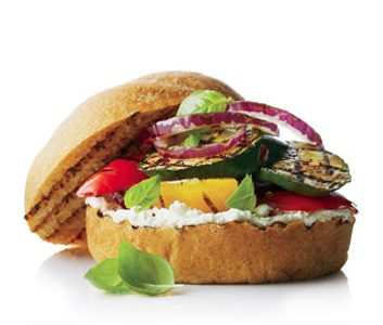 Grilled Vegetable & Goat Cheese Sandwich