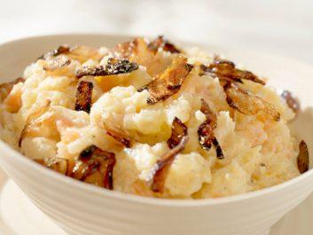 mashed potatoes with chorizo