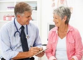 doctor older woman menopause