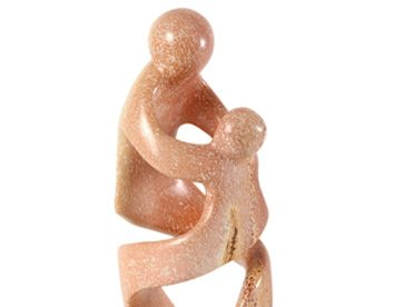 mom and child statue