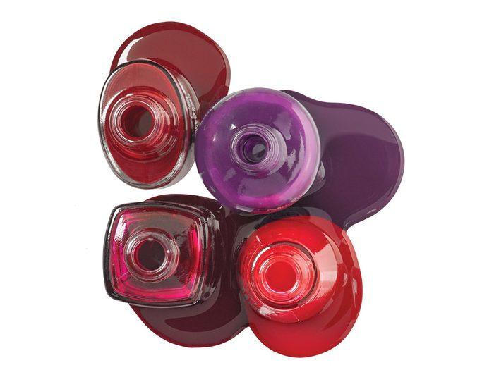 Dark and drastic oxblood or purple