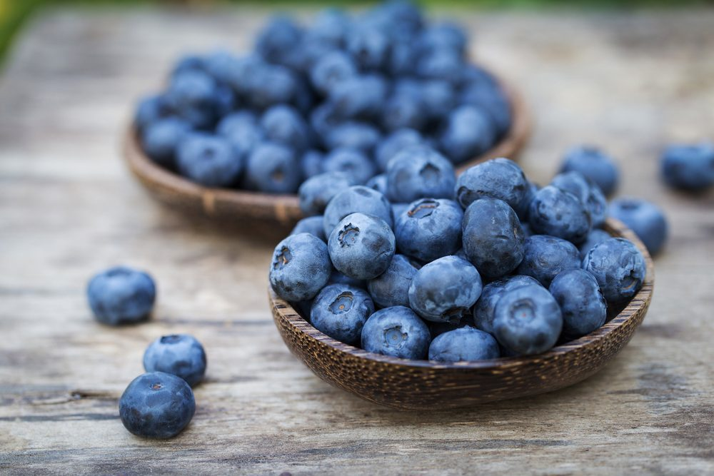 Eating blueberries helps lower the risk for Parkinson's disease.