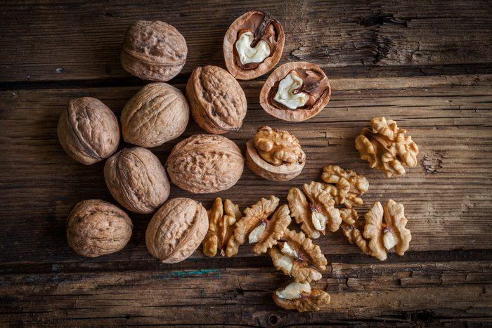 Eating walnuts helps to lower heart disease.