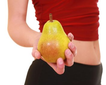 pear woman flat stomach