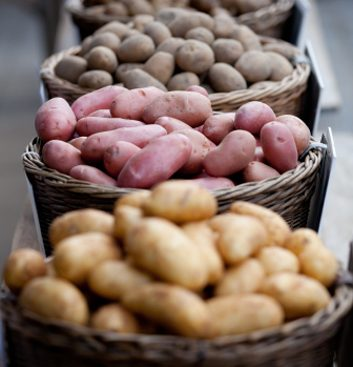 farmers market potatoes variety