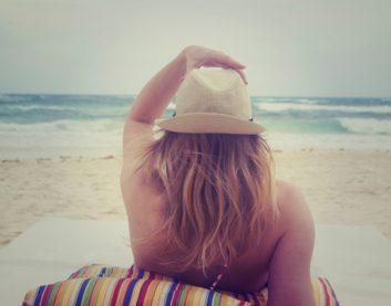 prevent sunburn beach summer hat towel
