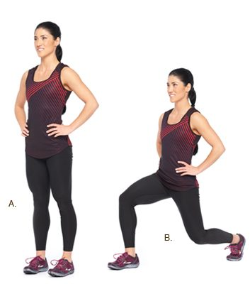 Reverse lunges: 2 minutes