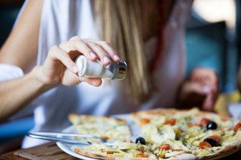 salt on pizza
