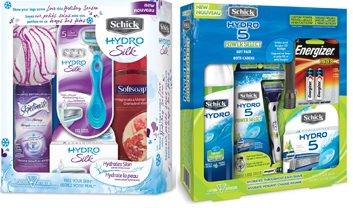Schick Hydro Power Select and Schick Hydro Silk Holiday Packs