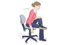 Seated glute stretch
