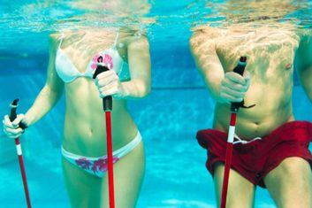 water exercise ski