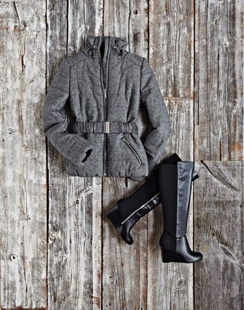Sleek puffer coat