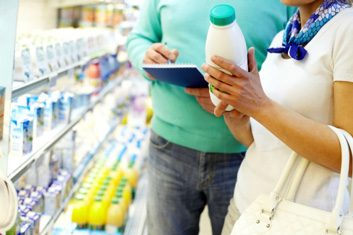lactose dairy woman grocery