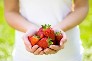 strawberriesinhand