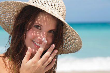 SPF sunscreen woman hat summer