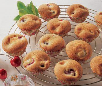 Sunken Cherry Cupcakes