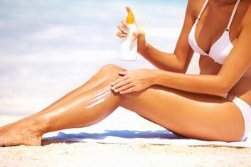 beach summer sunscreen