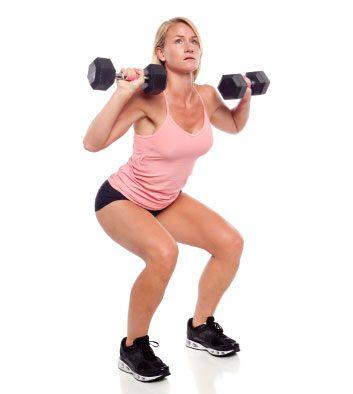 thruster squat dumbbells weights