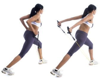 2. Triceps extension in a lunge position
