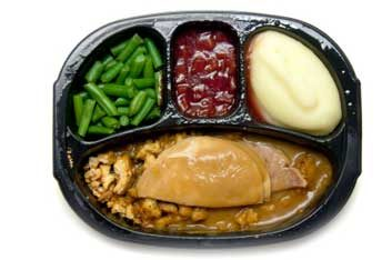 processed food tv dinner