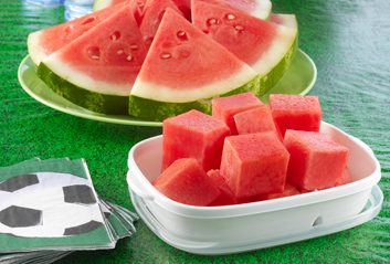 soccer watermelon