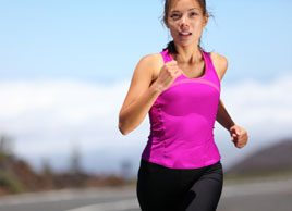 woman running summer fitness