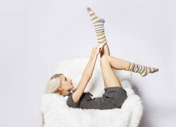 woman in socks