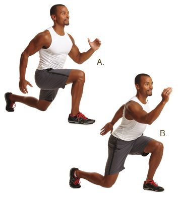 Plyometric lunges