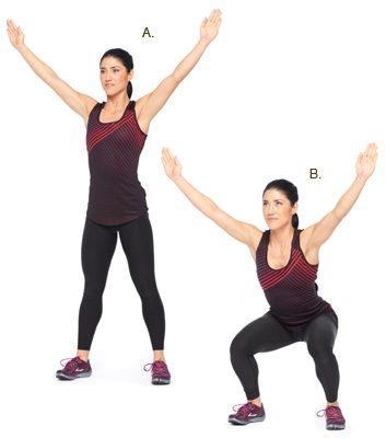 Y-squats: 2 minutes