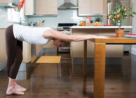Yoga pose of the month: Ease back tension with Standing Tabletop