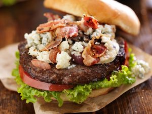 Beefed-Up Blue Cheese Burger