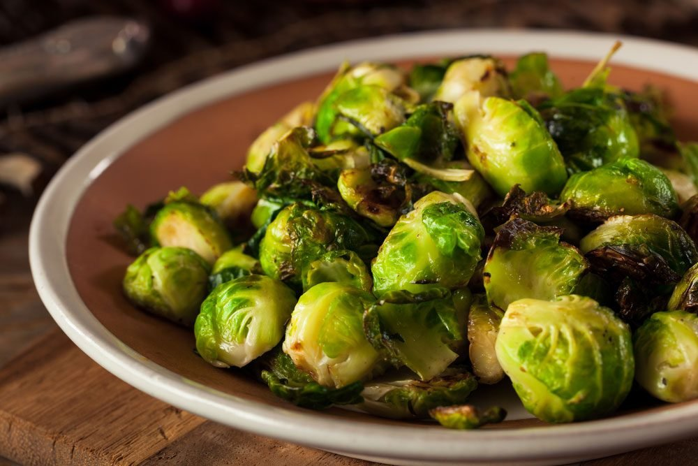 Vegetables, bowl of Brussels sprouts