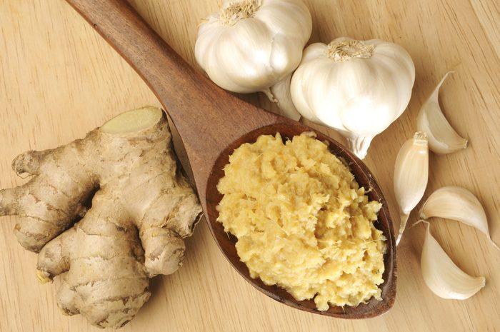 workout nutrition ginger garlic