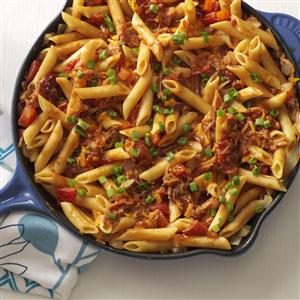 barbecue-pork-and-penne-skillet