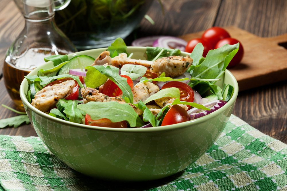 healthy canada day feast_grilled asian salad in bowl